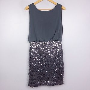 Cynthia Rowley Grey Sequin Mini Cocktail Dress